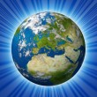 Planet Earth featuring Glowing Europe — Stock Photo #11622479