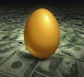 Golden retirement savings investment symbol — Stock Photo