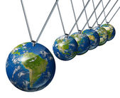 Pendulum with South America — Stock Photo