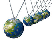 World Economy Pendulum with Asia — Stock Photo