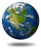 Planeta tierra con américa del norte — Foto de Stock