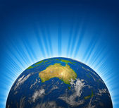 Australia view on an Earth planet globe — Stock Photo