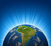 South America View On An Earth Planet — Stock Photo