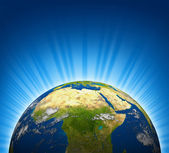 Africa And The Middle East View — Stock Photo