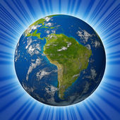 Earth planet featuring South america — Stock Photo