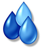 Water Drops Icon — Stock Photo