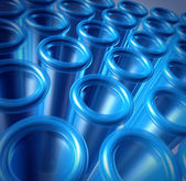 Blue Test Tubes — Stock Photo