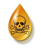 Giftige chemische drop — Stockfoto