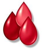 Blood Drops Symbol — Stock Photo