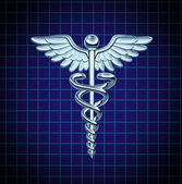 Caduceus Health Care Icon — Stock Photo