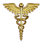 Símbolo médico del caduceo — Foto de Stock