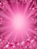 Pink Bubbles Concept — Stock Photo