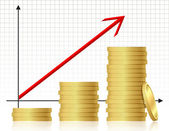 Financial success concept — Stock Vector