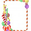 Stock Vector: Frame with colorful candies.