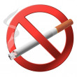 The sign no smoking. - Imagen vectorial