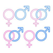 Male and female symbols. — Stock Vector