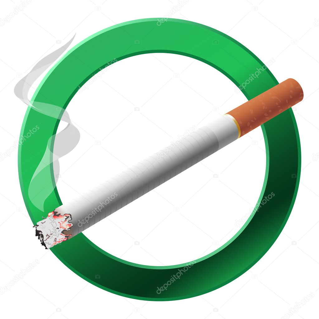 The sign smoking area. Vector illustration on white background — Stock Vector #11419128