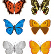 Set of Butterfly, Vector Illustration. — Stock Vector #11545312