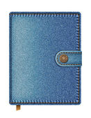 Blue denim notebook — Stock Vector