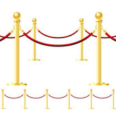 Rope barrier isolated on white — Stock Vector
