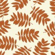 Stockvektor : Seamless pattern with autumn leaves