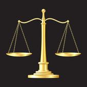 Icône de balances or — Vecteur