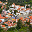 Aerial view of Sintra and National Palace. Portugal - 图库照片