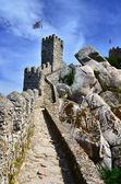 Mouros chamin paredes, castelo de sintra, em portugal — Foto Stock