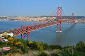 25 de Abril Bridge in Lisbon, Portugal — Stock Photo