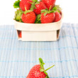 Strawberries in basket. On white background. — Stock Photo #11166569