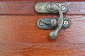 Cerradura del antiguo ataúd decorativo — Foto de Stock