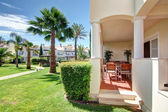 Nice view of the veranda and garden terraces. — Stock Photo