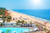 Portuguese Beach in the summer. View from the top. — Stock Photo