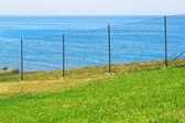 Access is prohibited to the sea fence. — Stock Photo