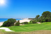 A golf course near the beach in Portugal. Summer. — Stock Photo