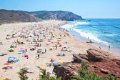 The public beach on the ocean in Portugal. — Stock Photo