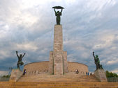 The Liberty Statue in Budapest, Hungary - Citadella — Stock Photo