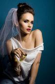 Wedding fashion women portrait — Stock Photo