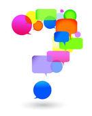 Perguntas e respostas. bolha do discurso — Vetorial Stock