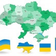 Ukraine map - Stock Vector