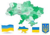 Carte de l'ukraine — Vecteur