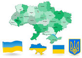 Ukraine map — Stockvector