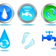 Water icons set. — Stock Vector