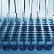 Stock Photo: Multichannel pipette