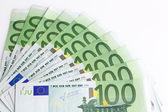 Group banknotes 100 euros — Stock Photo