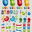 Design elements: tags, stickers, ribbons and other. — Stock Vector
