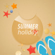Summer holidays sticker. — Stock Vector