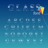 Glas teckensnitt. — Stockvektor