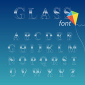 Glass font. — Stock Vector