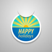 Attach happy holidays sticker. — Stock Vector